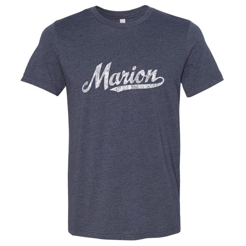 Marion Ohio OH T-Shirt Vintage Baseball Script Sports Design