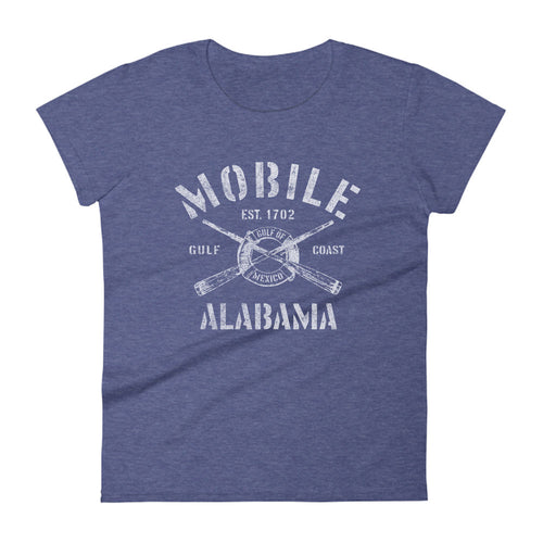 Mobile Alabama AL Women's Fashion Fit T-Shirt Nautical Boating Design