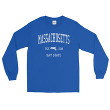 Vintage Massachusetts MA Adult Long Sleeve T-Shirt (Unisex) - JimShorts