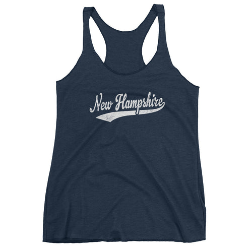 Vintage New Hampshire NH Women's Racerback Tank Top