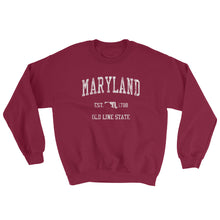 Vintage Maryland MD Adult Sweatshirt (Unisex) - JimShorts
