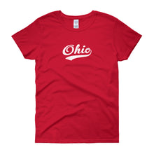 Vintage Ohio OH Women's T-Shirt with Script Tail Design - JimShorts