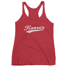 Vintage Kansas KS Women's Racerback Tank Top