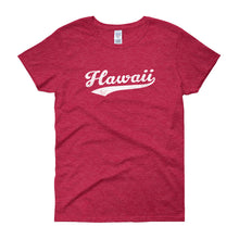 Vintage Hawaii HI Women's T-Shirt with Script Tail Design - JimShorts