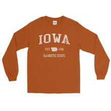 Vintage Iowa IA Adult Long Sleeve T-Shirt (Unisex) - JimShorts