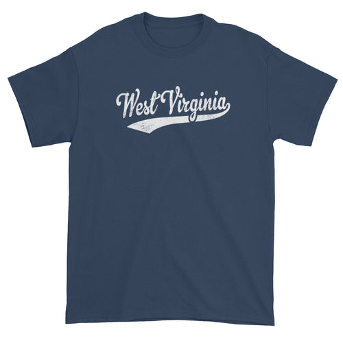 Vintage West Virginia WV T-Shirt with Script Tail Design Adult - JimShorts