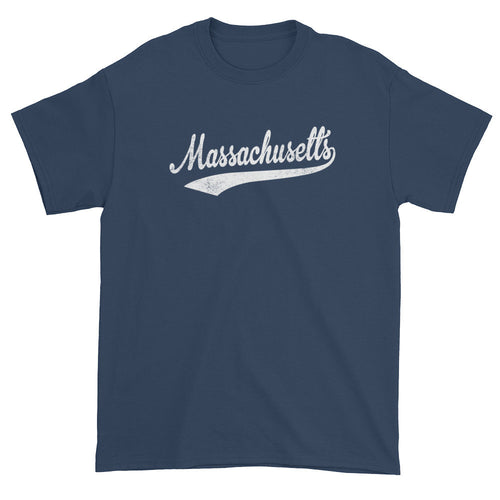 Vintage Massachusetts MA T-Shirt with Script Tail Design Adult - JimShorts