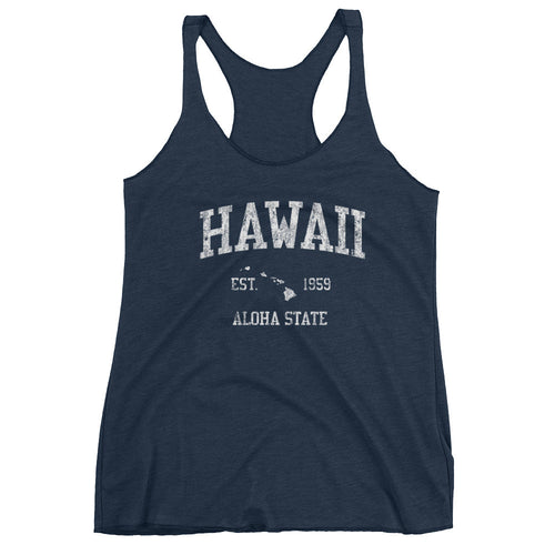 Vintage Hawaii HI Women's Racerback Tank Top