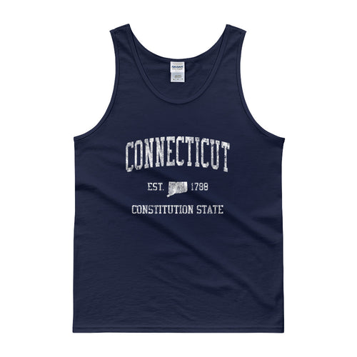 Vintage Connecticut CT Tank Top Adult - JimShorts