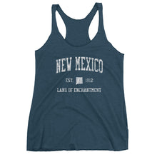 Vintage New Mexico NM Women's Racerback Tank Top - JimShorts