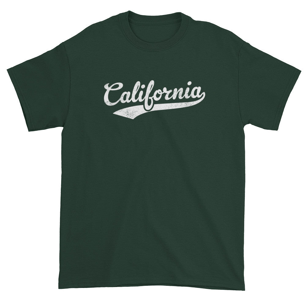 Vintage California CA T-Shirt with Script Tail Design Adult - JimShorts