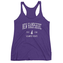 Vintage New Hampshire NH Women's Racerback Tank Top - JimShorts