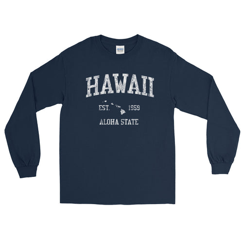 Vintage Hawaii HI Adult Long Sleeve T-Shirt (Unisex) - JimShorts