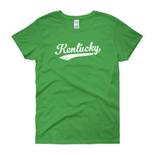 Vintage Kentucky KY Women's T-Shirt with Script Tail Design - JimShorts