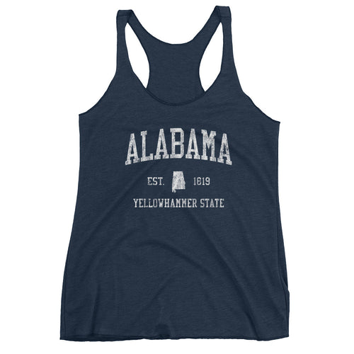 Vintage Alabama AL Women's Racerback Tank Top