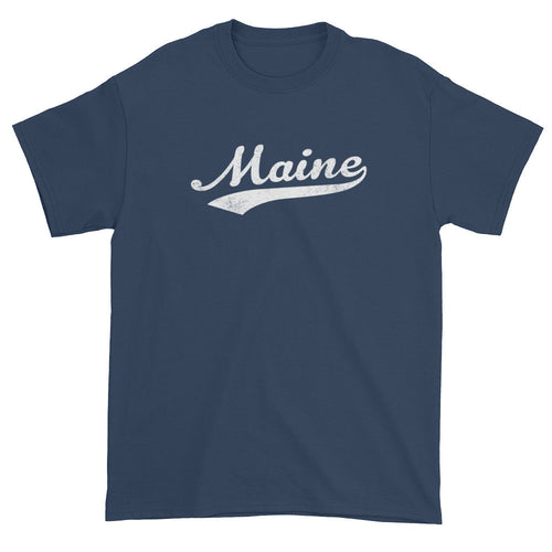 Vintage Maine ME T-Shirt with Script Tail Design Adult - JimShorts