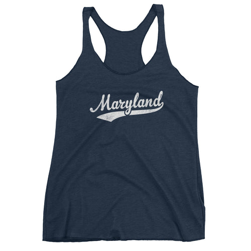 Vintage Maryland MD Women's Racerback Tank Top