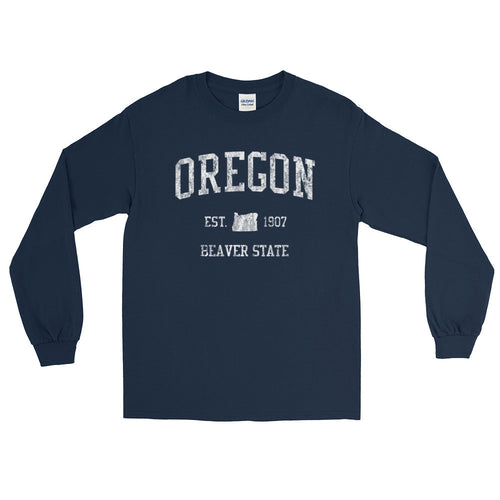 Vintage Oregon OR Adult Long Sleeve T-Shirt (Unisex) - JimShorts