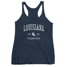 Vintage Louisiana LA Women's Racerback Tank Top
