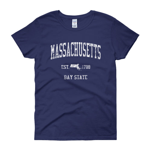 Vintage Massachusetts MA Women's T-Shirt - JimShorts