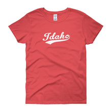 Vintage Idaho ID Women's T-Shirt with Script Tail Design - JimShorts