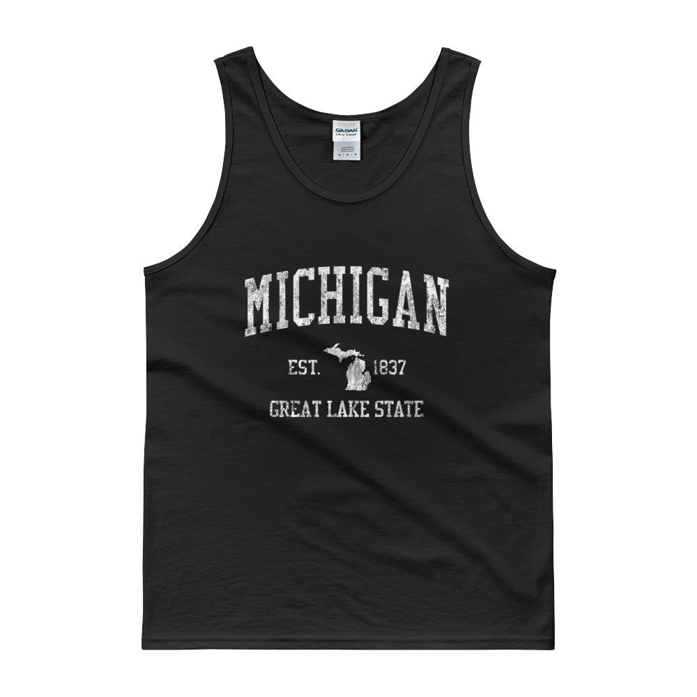 Vintage Michigan MI Tank Top Adult - JimShorts