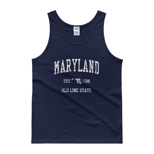 Vintage Maryland MD Tank Top Adult - JimShorts