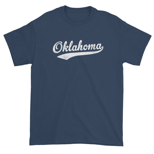Vintage Oklahoma OK T-Shirt with Script Tail Design Adult - JimShorts