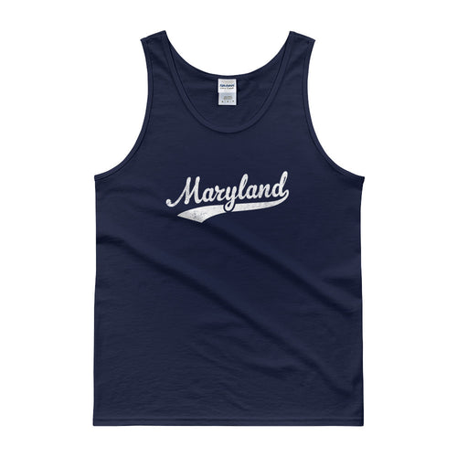 Vintage Maryland MD Tank Top Script Tail Design Adult - JimShorts
