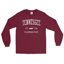 Vintage Tennessee TN Adult Long Sleeve T-Shirt (Unisex) - JimShorts