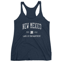 Vintage New Mexico NM Women's Racerback Tank Top