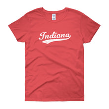 Vintage Indiana IN Women's T-Shirt with Script Tail Design - JimShorts