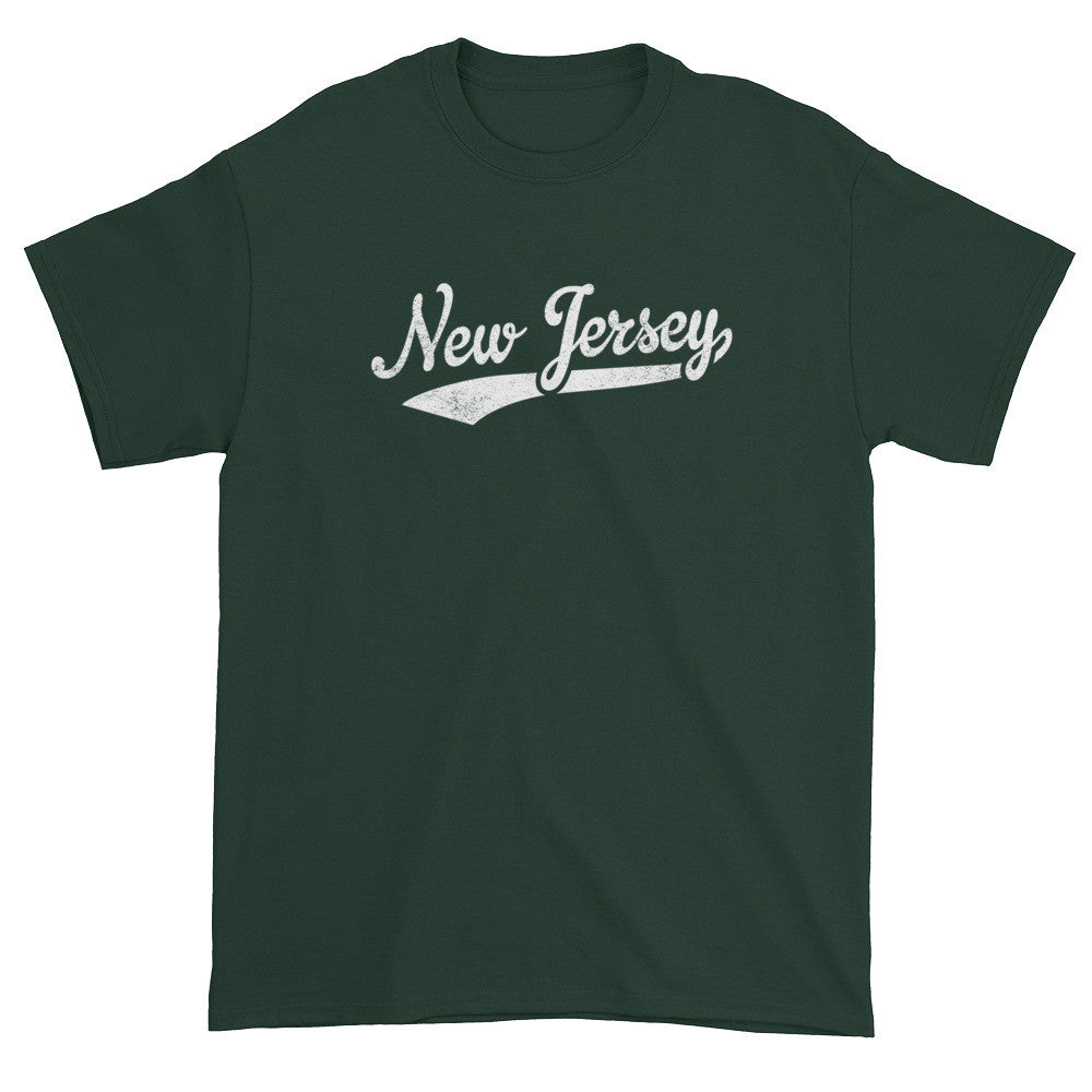 Vintage New Jersey NJ T-Shirt with Script Tail Design Adult - JimShorts