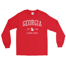 Vintage Georgia GA Adult Long Sleeve T-Shirt (Unisex) - JimShorts