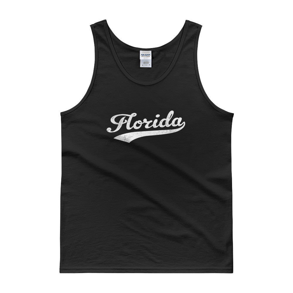 Vintage Florida FL Tank Top Script Tail Design Adult - JimShorts