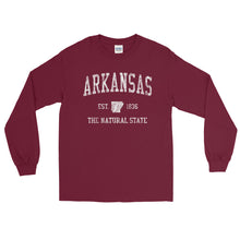 Vintage Arkansas AR Adult Long Sleeve T-Shirt (Unisex) - JimShorts