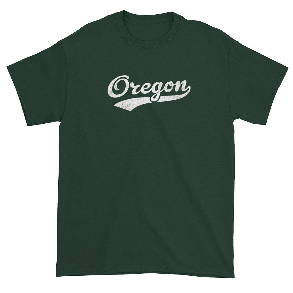 Vintage Oregon OR T-Shirt with Script Tail Design Adult - JimShorts