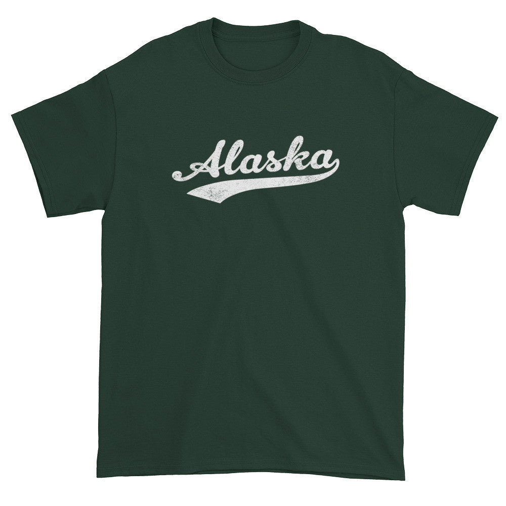 Vintage Alaska AK T-Shirt with Script Tail Design Adult - JimShorts
