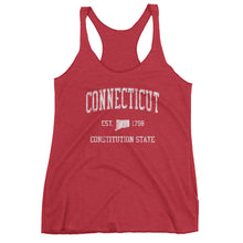 Vintage Connecticut CT Women's Racerback Tank Top - JimShorts
