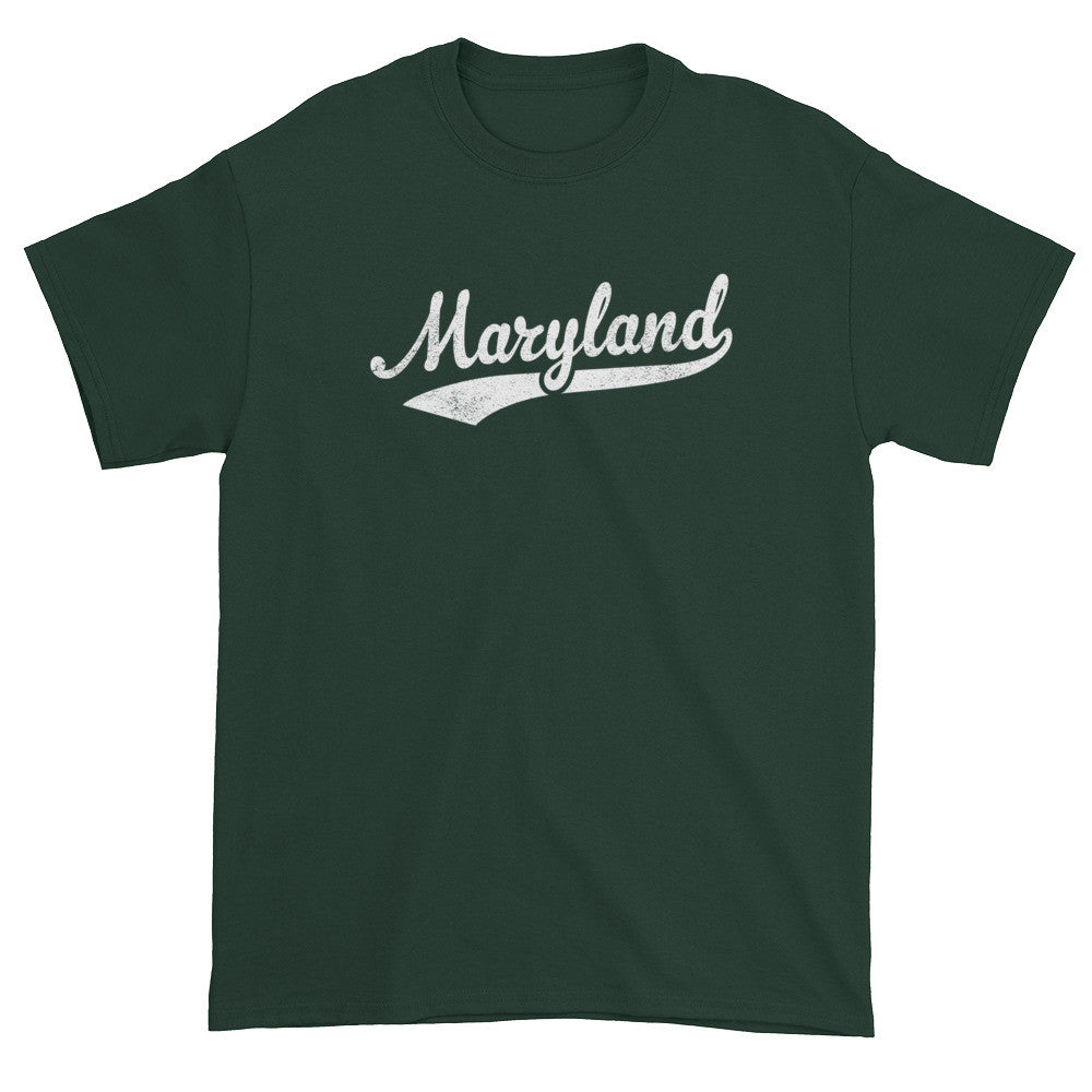 Vintage Maryland MD T-Shirt with Script Tail Design Adult - JimShorts