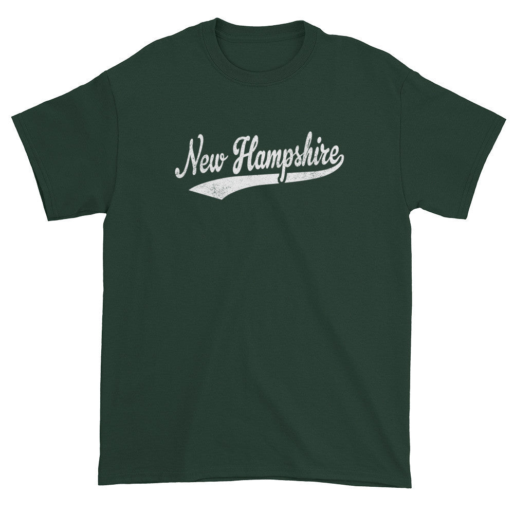 Vintage New Hampshire NH T-Shirt with Script Tail Design Adult - JimShorts