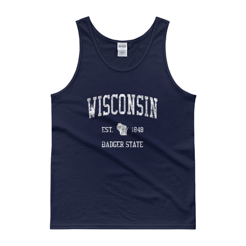 Vintage Wisconsin WI Tank Top Adult - JimShorts