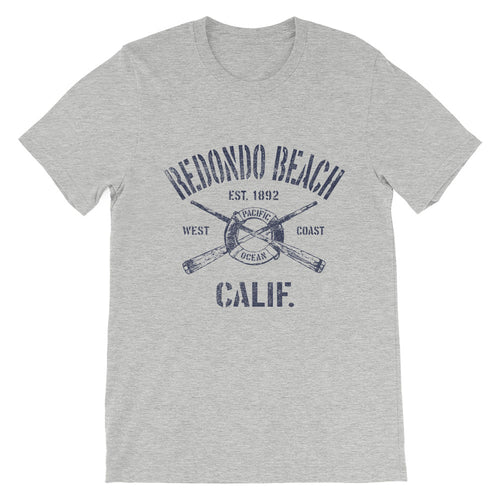 Redondo Beach California CA Vintage Nautical Boating T-Shirt (Unisex)