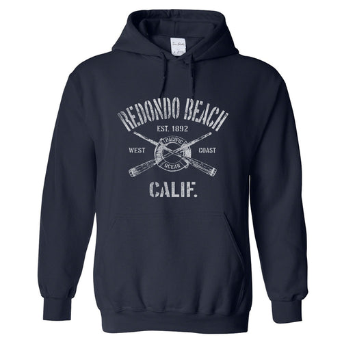 Redondo Beach California CA Hoodie Nautical Boating Design (Unisex)
