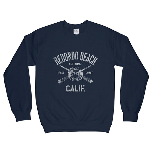 Redondo Beach California CA Sweatshirt Nautical Boating Design (Unisex)