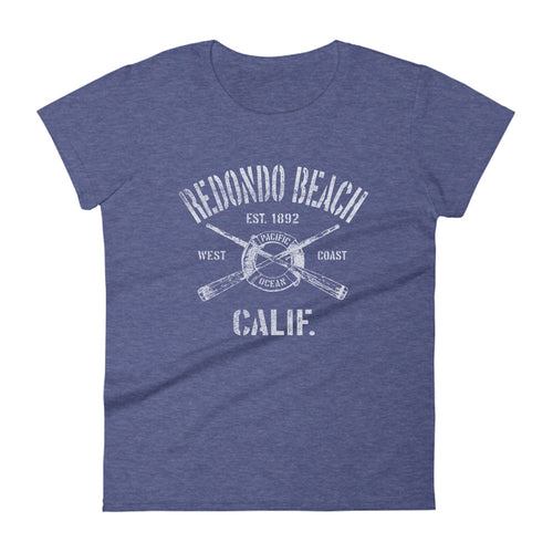 Redondo Beach California CA Women's Fashion Fit T-Shirt Nautical Boating Design