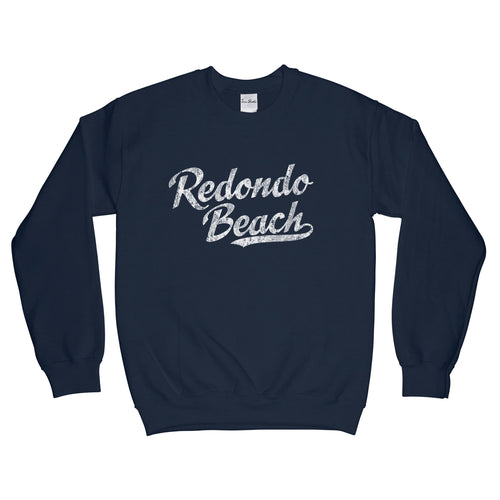Redondo Beach California CA Sweatshirt Baseball Script - Adult (Unisex)