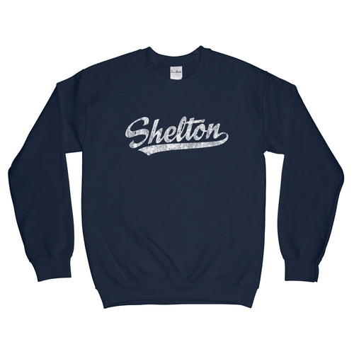 Shelton Connecticut CT Sweatshirt Baseball Script - Adult (Unisex)