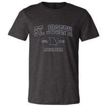 St Joseph Missouri MO Soft T-Shirt Navy Athletic Sports Design (Unisex Tee)