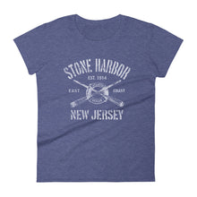 Stone Harbor New Jersey NJ Women's Fashion Fit T-Shirt Nautical Boating Design